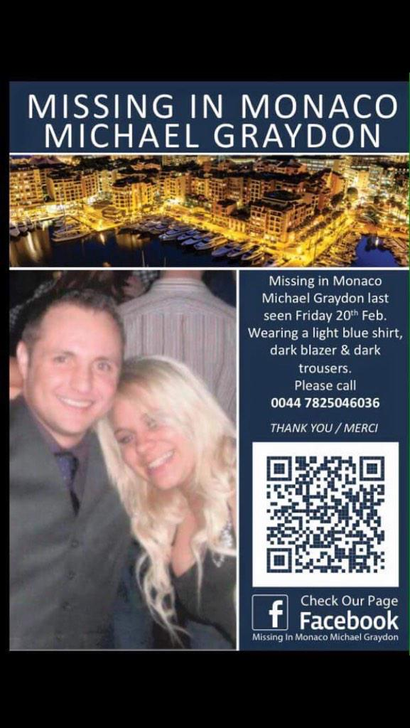 @HitmanHatton Our friend #disappeared in #Monaco and we've had no news in 11 days - please #RT #FindMichaelGraydon http://t.co/f7hDu7Nqm4
