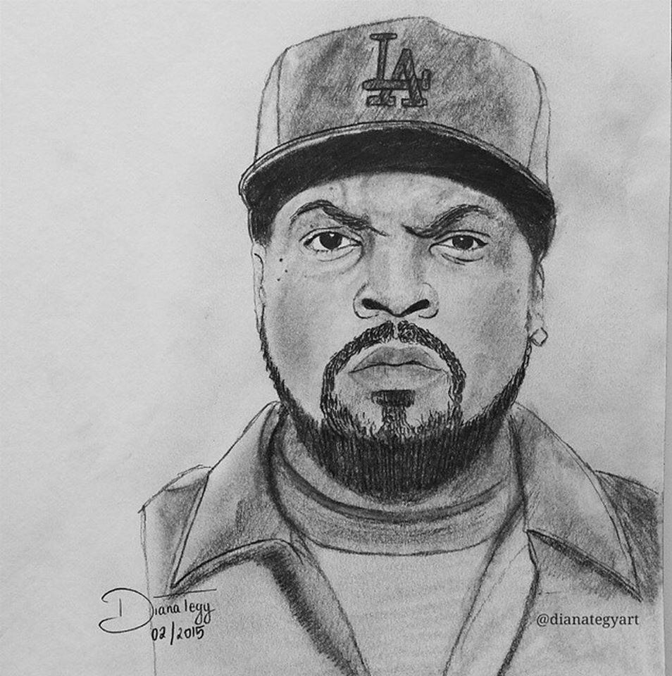 "Ice Cube on Twitter: ""Dope fan art sent in by Dianategyart ..."