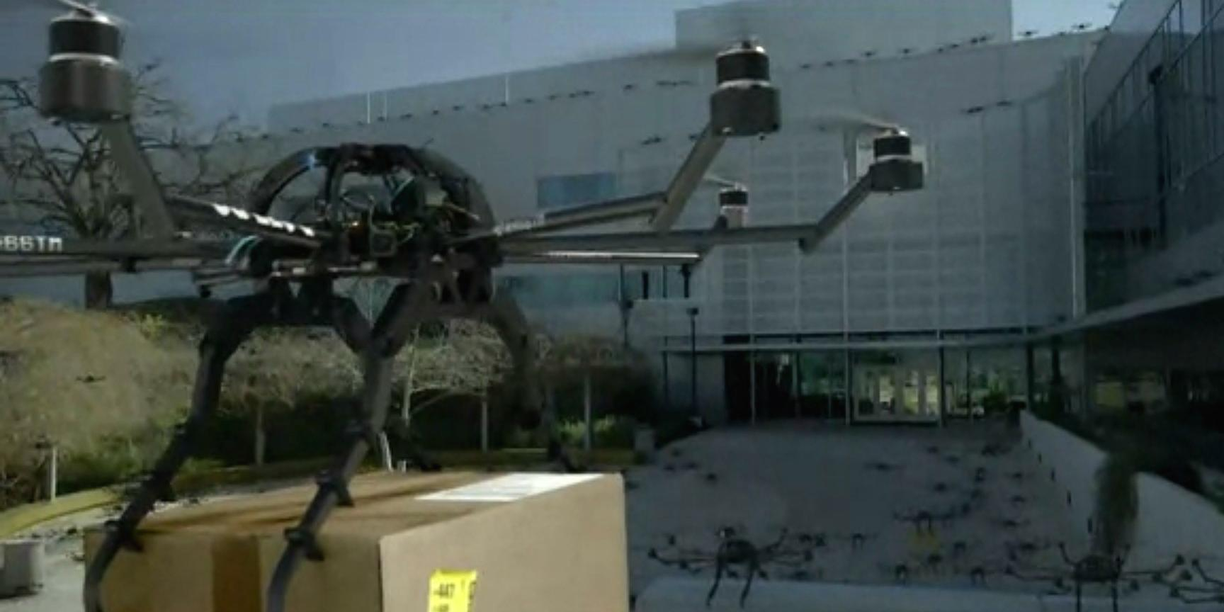 See @Amazon drones rampage through an office park in @Audi's scary-silly new ad http://t.co/8WEVuwz6J6 http://t.co/Tq5drLugai