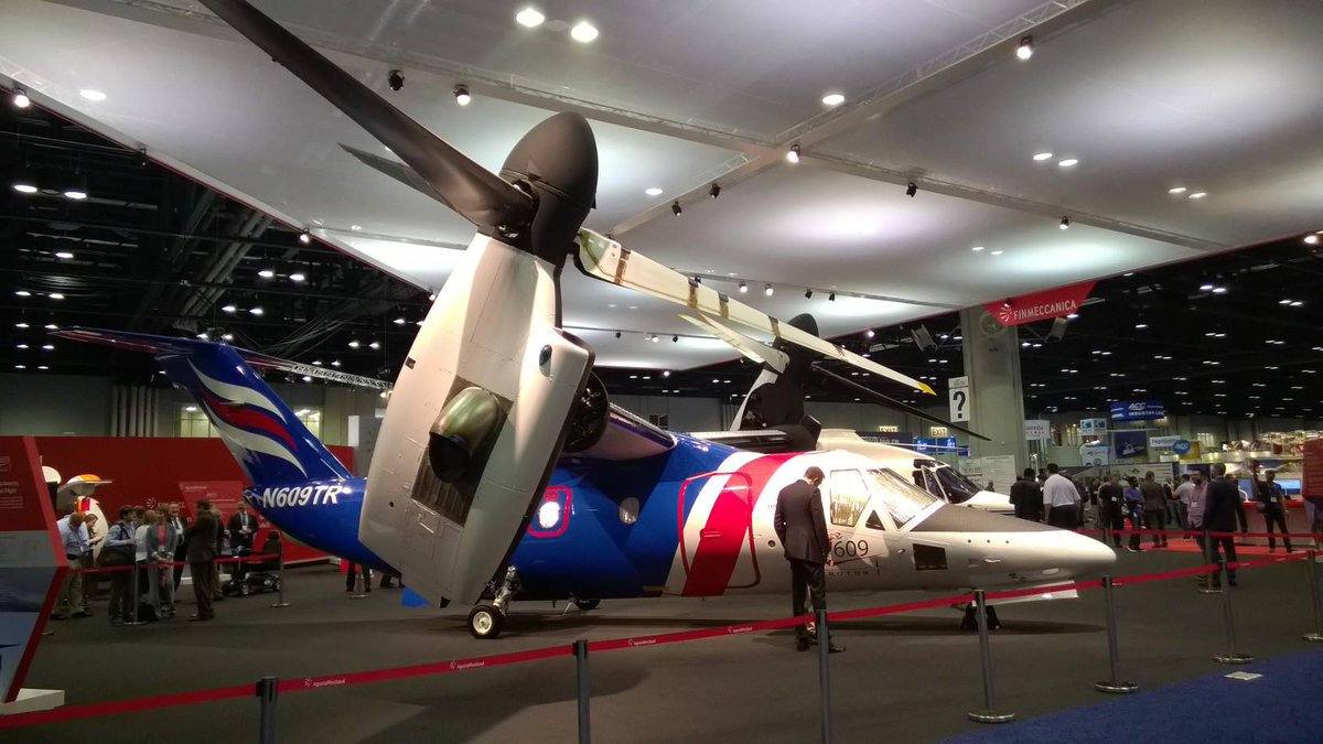 The majestic PT6-powered #AW609 at #HAI_EXPO15! What a machine! http://t.co/bUaspaH836
