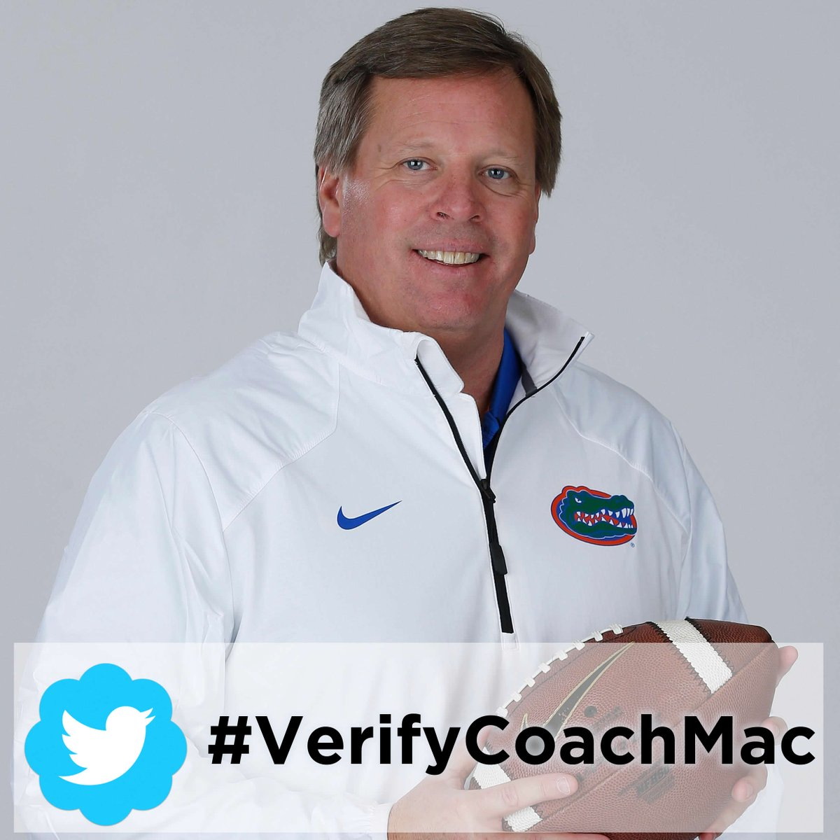#Gators, we need your help. Let's get #VerifyCoachMac trending so @CoachMcElwain is @verified on @Twitter! Please RT! http://t.co/kHjXDJLhwc