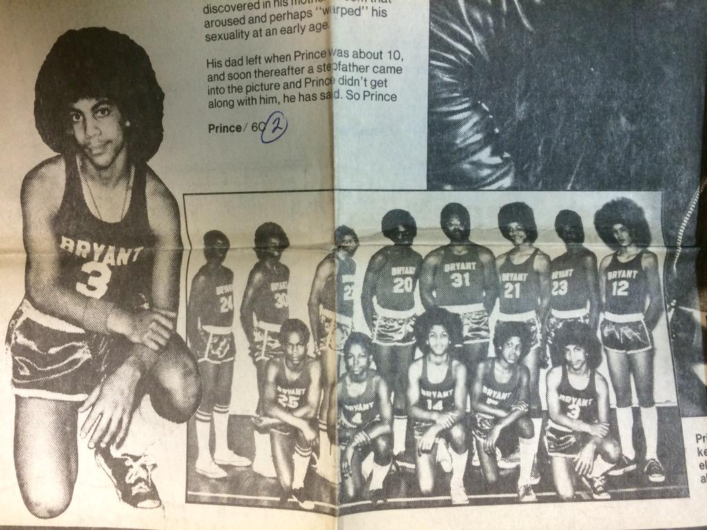 Another Prince-related clip from the Strib archives, looking back at his hooping days at Bryant Junior High. http://t.co/LrIQZ3LhSg