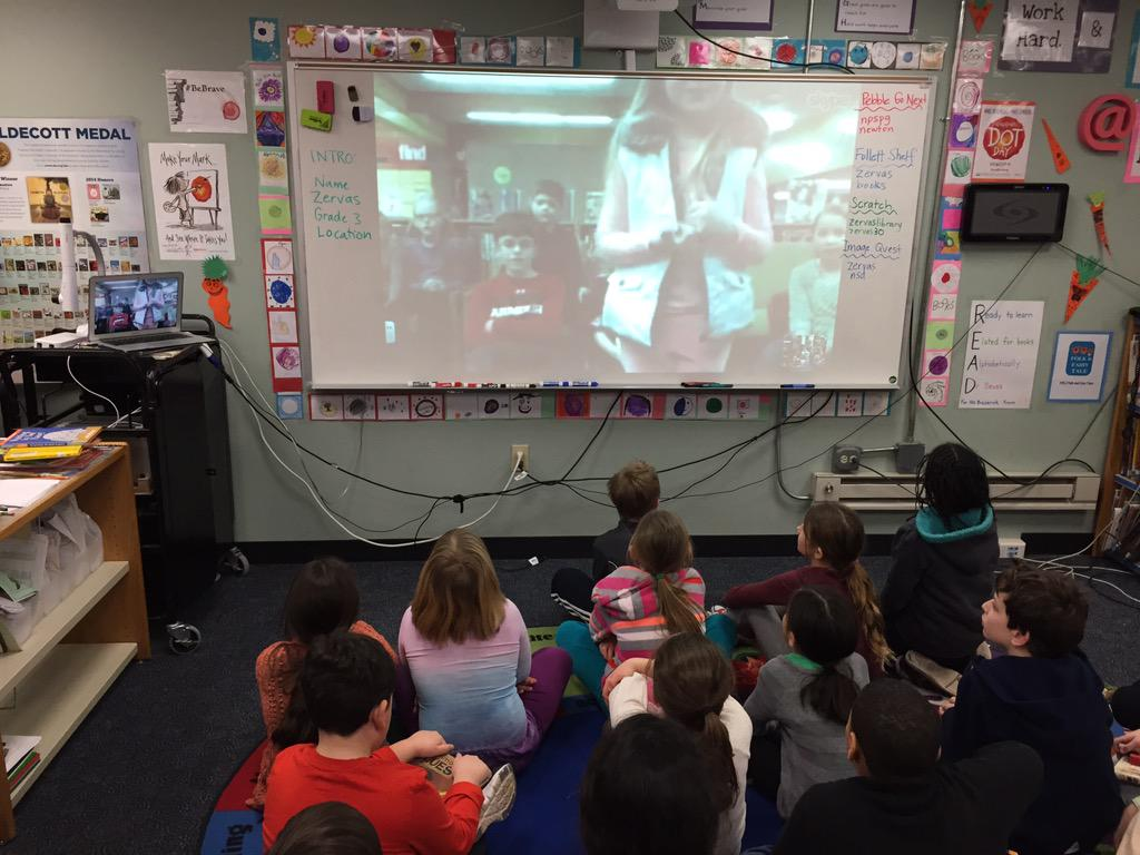 My class was super impressed @scsdmedia and students skyped with us, despite a delayed opening at school! #WRAD15 http://t.co/2bPAFtpmNl