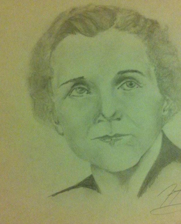 Rachel Carson sketch, by artist @moietymouse