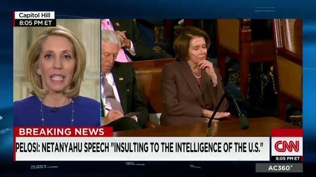 The image that was most lasting for #Dems was #Pelosi grimacing at what #Netanyahu was saying - @DanaBashCNN reports