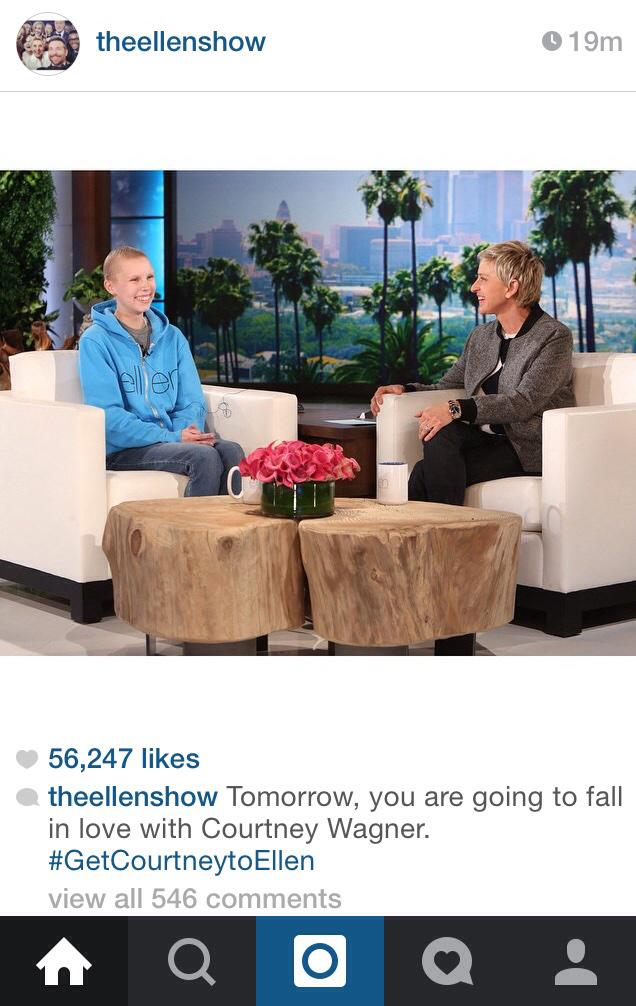Oh Ellen, we already are! #CourtneyGotToEllen http://t.co/fhZVnH8X5I