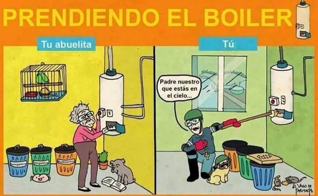 como prender el boiler