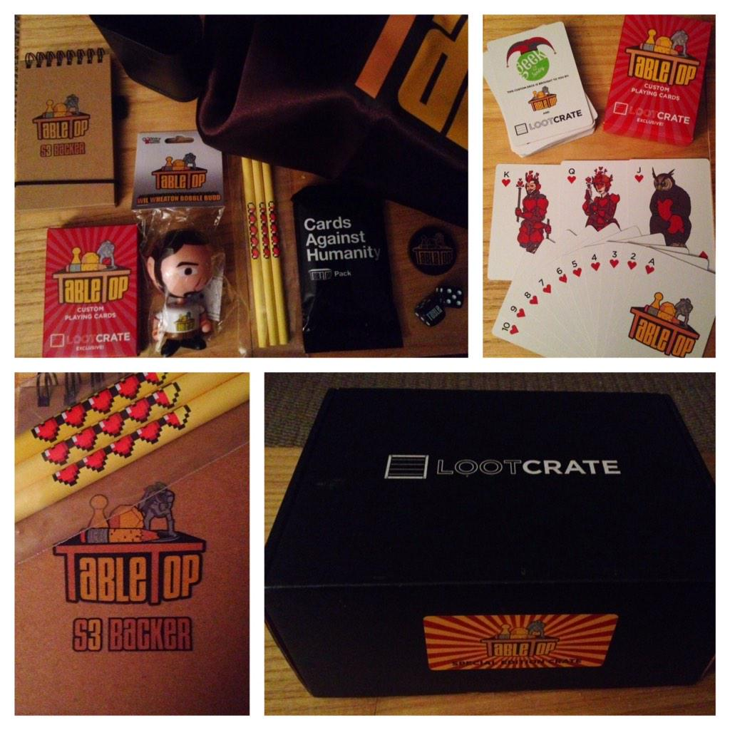 RT @deviousjen: Loving all the nerd-errific surprises in my special edition @tabletop @lootcrate! #proudbacker http://t.co/WK3CH7HS4Y
