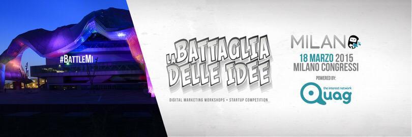 RT @killermedia: Osare dove Nessuno ha Mai Osato?! #BattleMI contest nazionale x #Startup Open 18/03 #GEC2015. http://t.co/x2ua7VMURH http:…