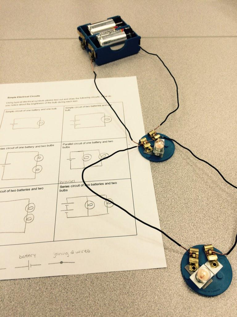 Miss Jacklyn Nate On Twitter Creating Simple Circuits In Science Parallel Circuit Bulbs Are 2 Batteries Http Tco Wlhmn59ky7