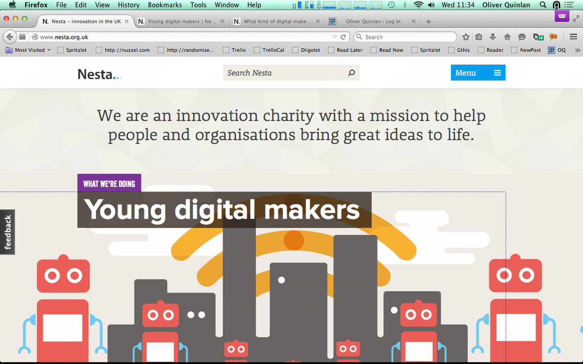 Front page of the Nesta website today… new report I wrote on #digitalmakers http://t.co/yFh7QHfxoA http://t.co/DHCNEeTnW6