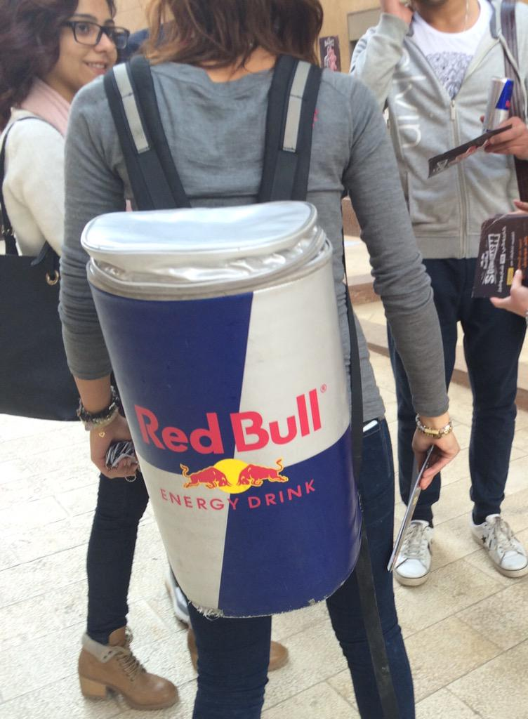 #redbull comes to campus to powering us being hunters. #TSH #JRMC2202 @KimFoxWOSU http://t.co/nJLSycIpNH