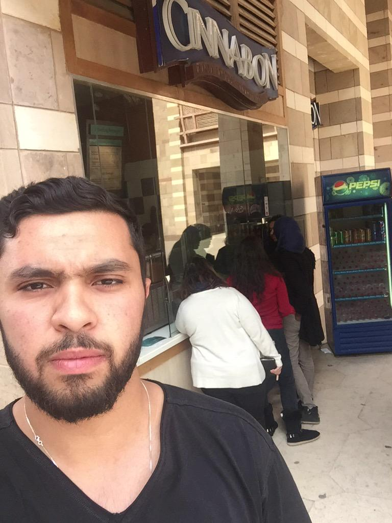 Cinnabon is Omar's favourite spot on campus. #foreverfat #jrmc2202 #JRLWeb http://t.co/T6HKiV0pt8