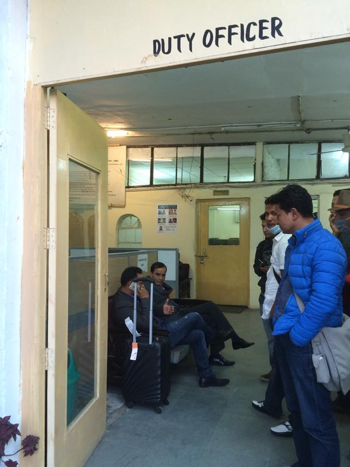 Passenger of #RA206 and Nepal Airline Delhi head Keshav Parajuli in Police station.