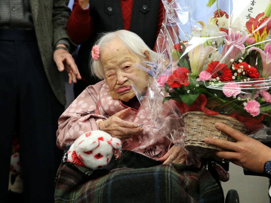 b7260de2f2648b Happy 117th birthday to Misao Okawa! Celebration PHOTOS  http   t.