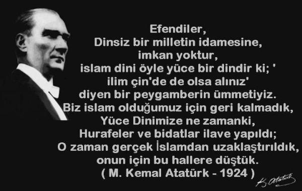 Atatürk kendisine iftira atan yobazlara cevap veriyor