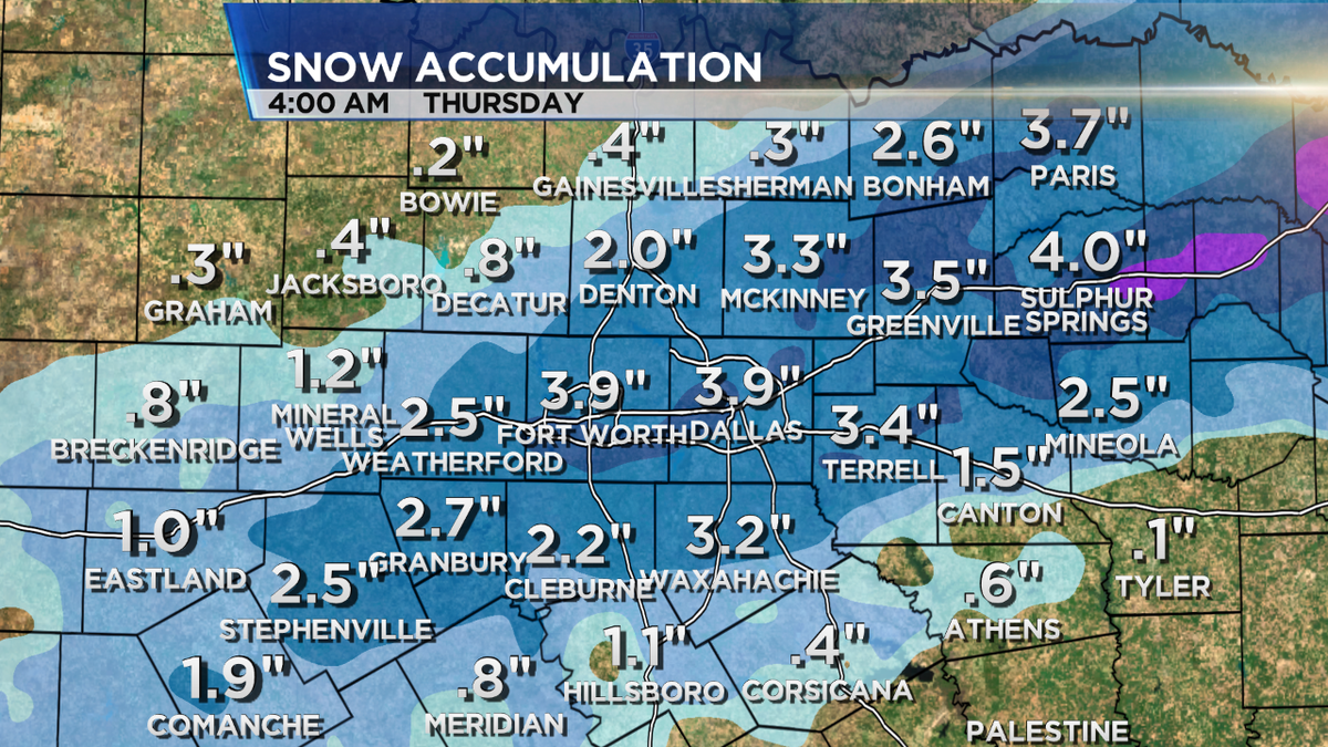 "This particular computer model shows anywhere from 2-4"" of snow possible for DFW through early THU! RS #dfwwx #txwx http://t.co/SMu6wTY0KI"