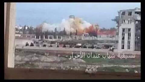 نسف مبنى المخابرات الجوية في حلب