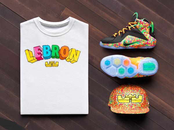 low priced d6f8e ff091 LeBron James Fruity Pebbles Edition Shoes ⋆ Terez Owens ...