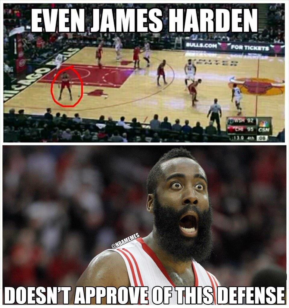 Nba memes on twitter quot james harden disapproves of this defense o