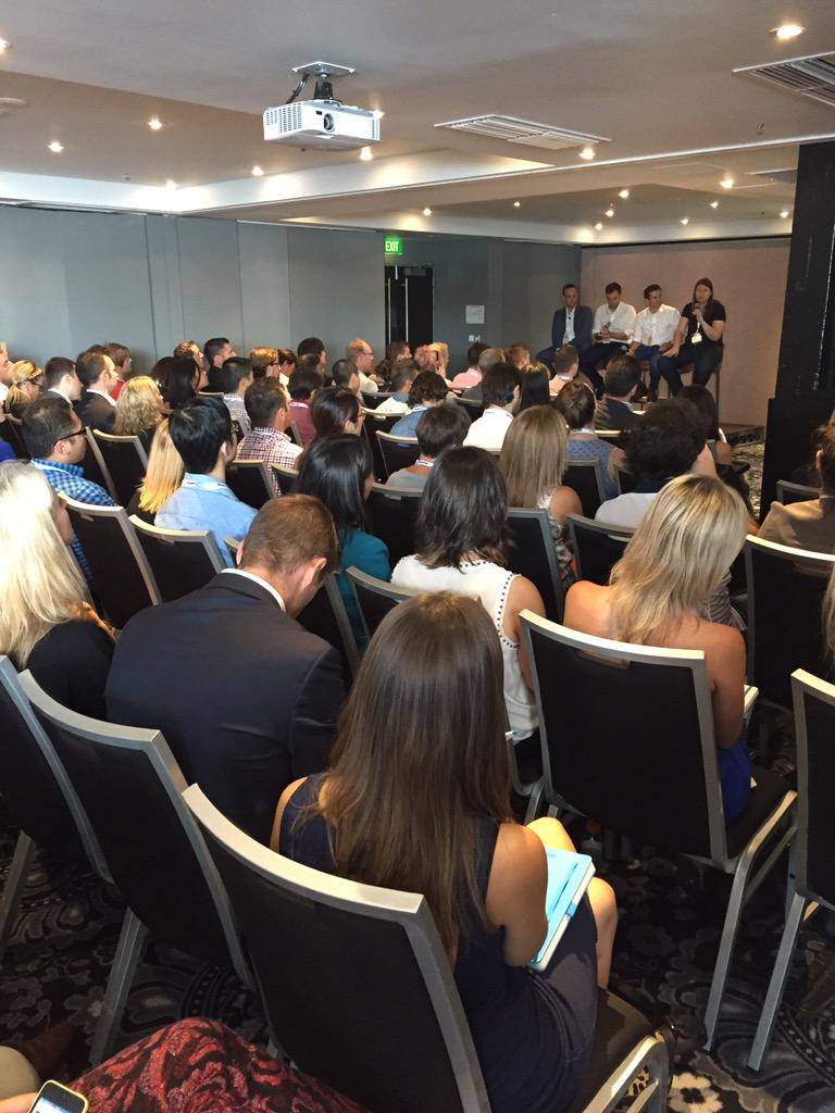 Packed room for the Data-driven Programmatic Buying panel w/ @VivaKi @AccuenAustralia @GuardianAus #programmatic15 http://t.co/WBznxwqzqg