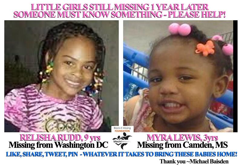 #GIRLS #MISSING 1yr #HelpUsFindUs #RelishaRudd #MyraLewis someone knows something! Retweet & Help Bring Them Home Now http://t.co/HNmxMAJE3i