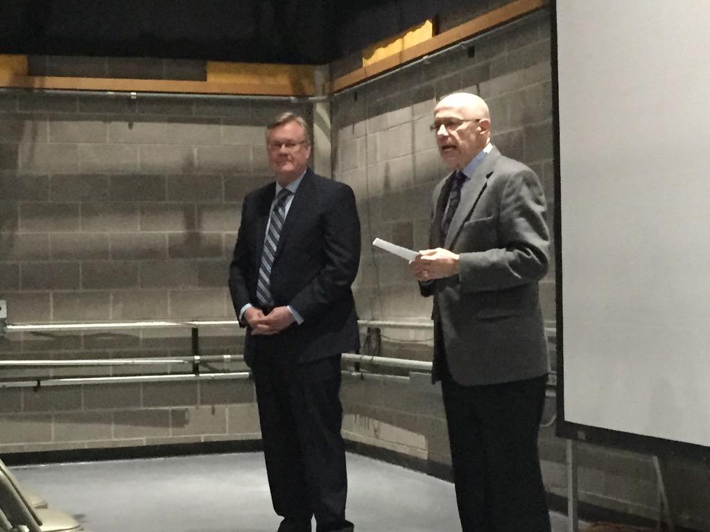 Brad Remington, new GM, introduced to KMGH-TV staff by @EWScrippsCo regional GM Steve Wassrman.