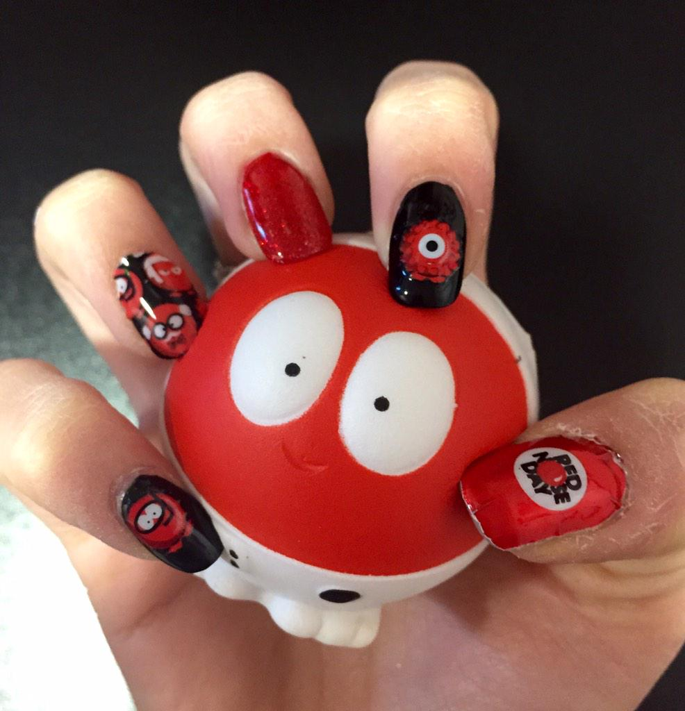 RT @nicolejeusette: @emmafreud comic relief nails using red nose stickers http://t.co/nvI780VbkV