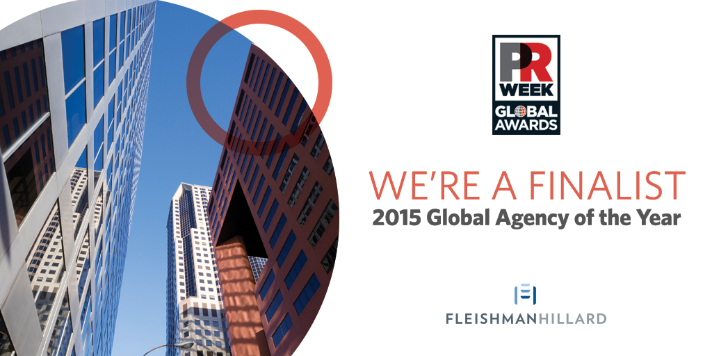 Go team: We're a finalist for three 2015 @PRWeekGlobal Awards, incl. Global Agency of the Year http://t.co/qXs4agGOhX http://t.co/ZJaflUxJYk