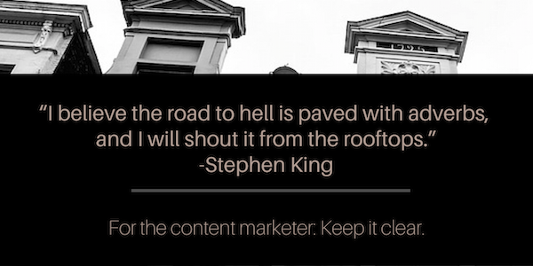 """RT @kapost: For the content marketer: """"Keep it clear."""" --> http://t.co/q7UH7sv8OO http://t.co/Ub7xdSXFcJ"""