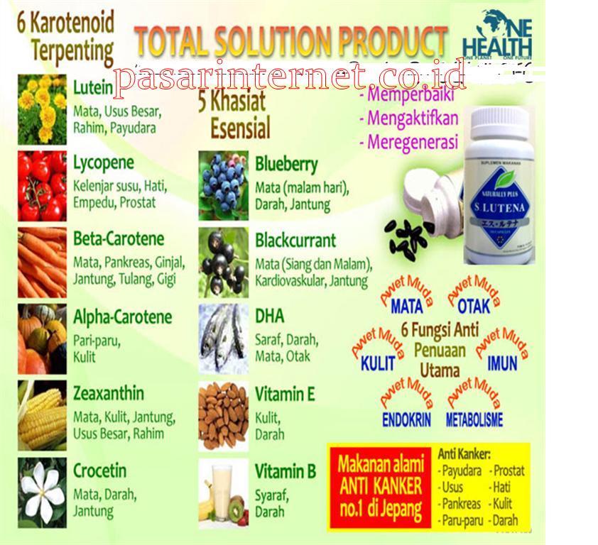 Manfaat,khasiat dan kandungan dari s.lutena untuk kesehatan darah , mata dan organ tubuh lainnya.
