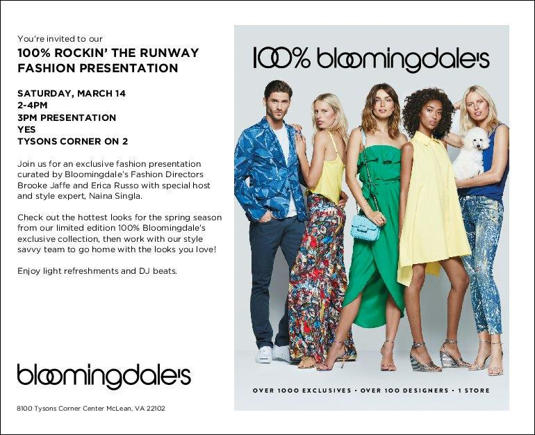 RT @nainasingla: Enough of winter already! Come join me @Bloomingdales @ShopTysons for a fun spring fashion show http://t.co/ZpPBFqc9Lu
