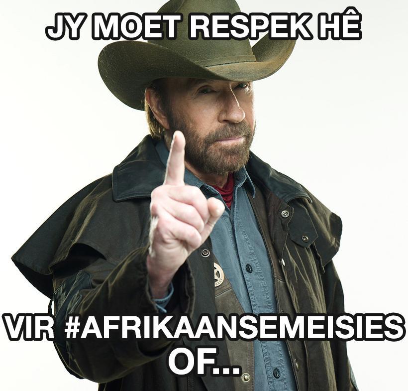 HEHEHE!! Lyk vir my #ChuckNorris hou ook van #AfrikaanseMeisies Youtube Video:  http://t.co/4NyVCoFWEB