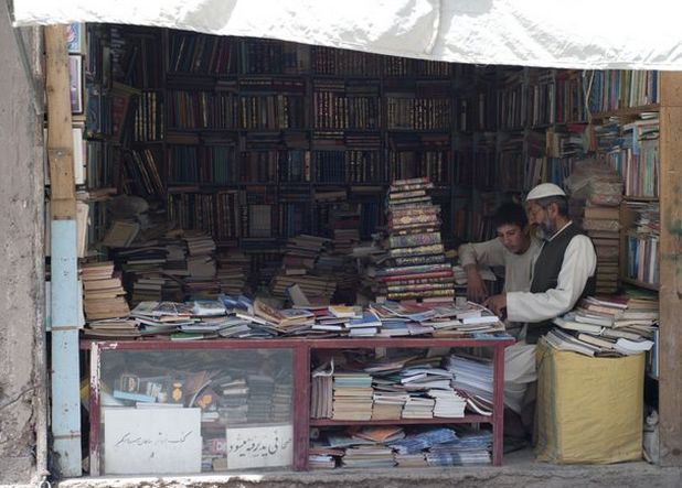 It's #WorldBookDay today, here is a bookseller in Herat, Afghanistan. 2010. http://t.co/OUyJ985kpt http://t.co/ZAnYgREB7N