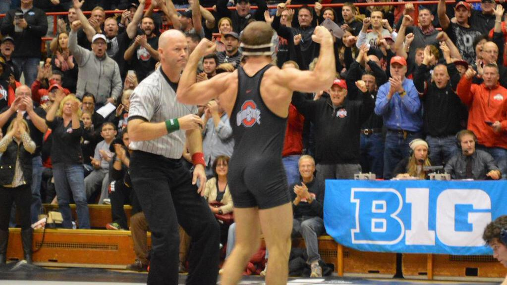 The @wrestlingbucks seek 1st @B1GWrestling title since 1951, @_LogieBear_ #4. #B1GWRE15   http://t.co/yOdOkmHRxA http://t.co/w5UWa2Bu4C