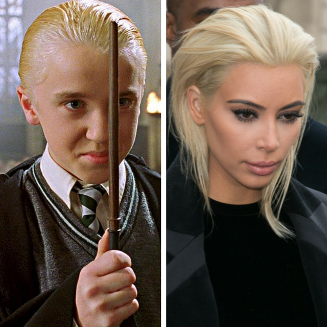 Kim K went platinum blonde and  doesn't she remind you of someone? http://t.co/MFfKFWxcCj http://t.co/hL4bTSMrV2