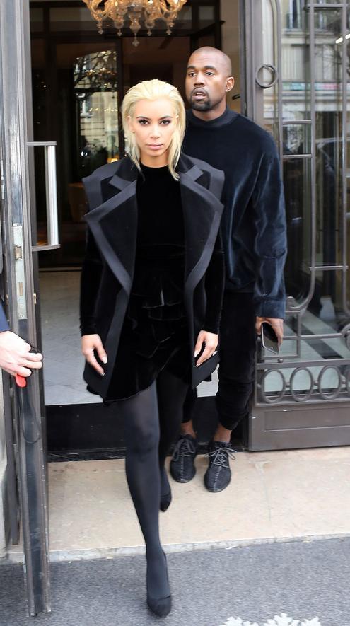 Kim Kardashian revealed platinum locks this morning at Balmain's Fall '15 show: http://t.co/4pcWR69YAK http://t.co/bpmmo4i6SQ