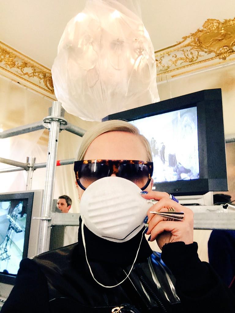 we're at the #afvandevorst presentation in #paris #pfw http://t.co/eJLkouw9fo