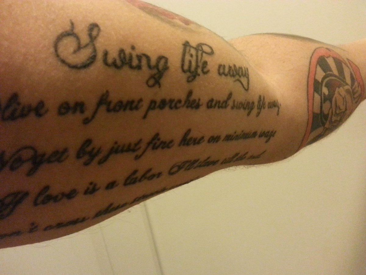 Against tattoo rise Rise Against