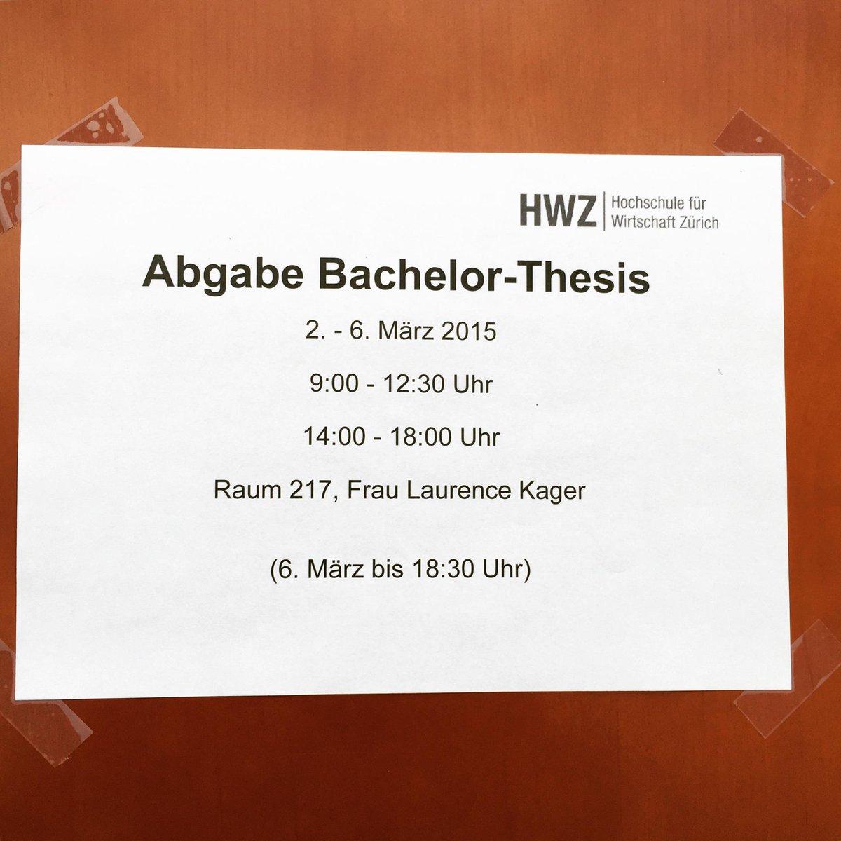 hwz bachelor thesis
