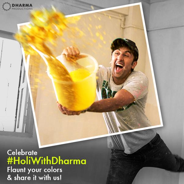 Share your 'color filled' pictures with us using #HoliWithDharma and stand a chance to be a part of #ColorsofDharma http://t.co/3O5zFolQTS