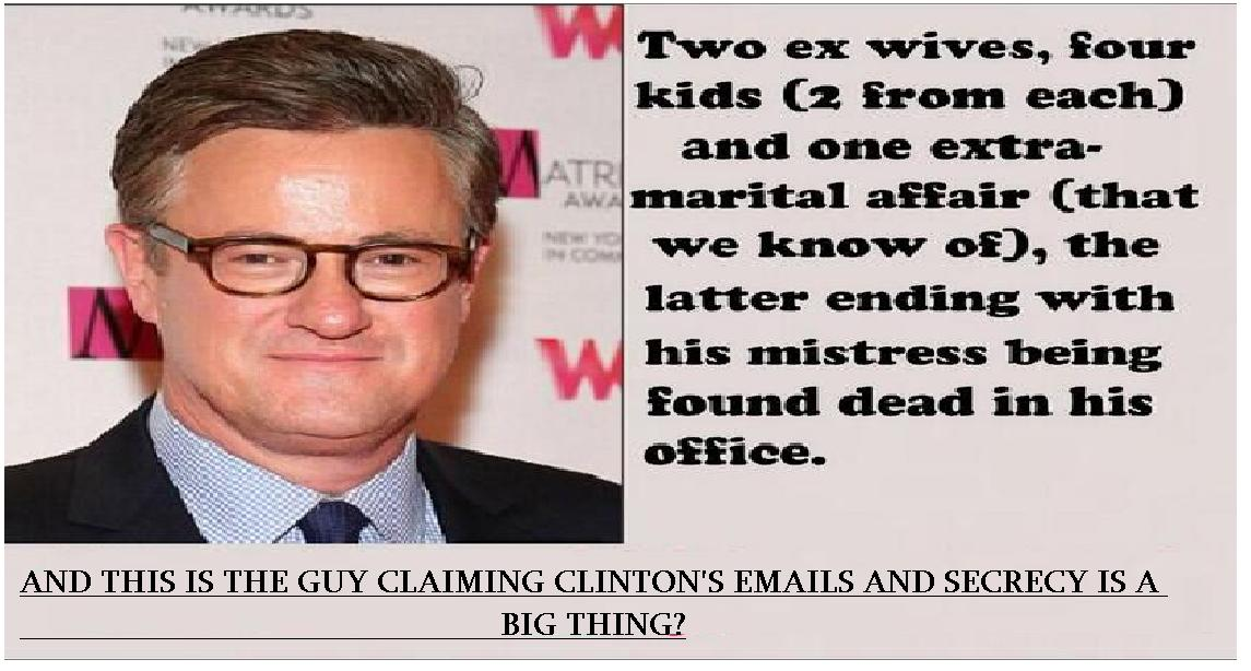 And this is the guy ==> @Morning_Joe claiming that @HillaryClinton emails and secrecy as a big thing? @morningmika http://t.co/hsDeTUU8c0