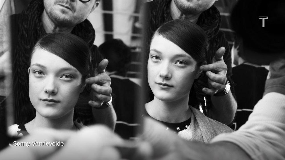 Double the Yumi Lambert at Vionnet @IMGmodels http://t.co/sBVP6BxUHu #PFW http://t.co/LeC2GjToDO