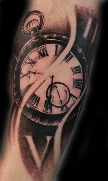 13 ink tattoo on twitter forearm time piece tattoo by for Time piece tattoos