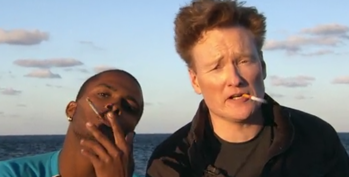 watch conan o brien teamcoco drink and smoke with the local youth