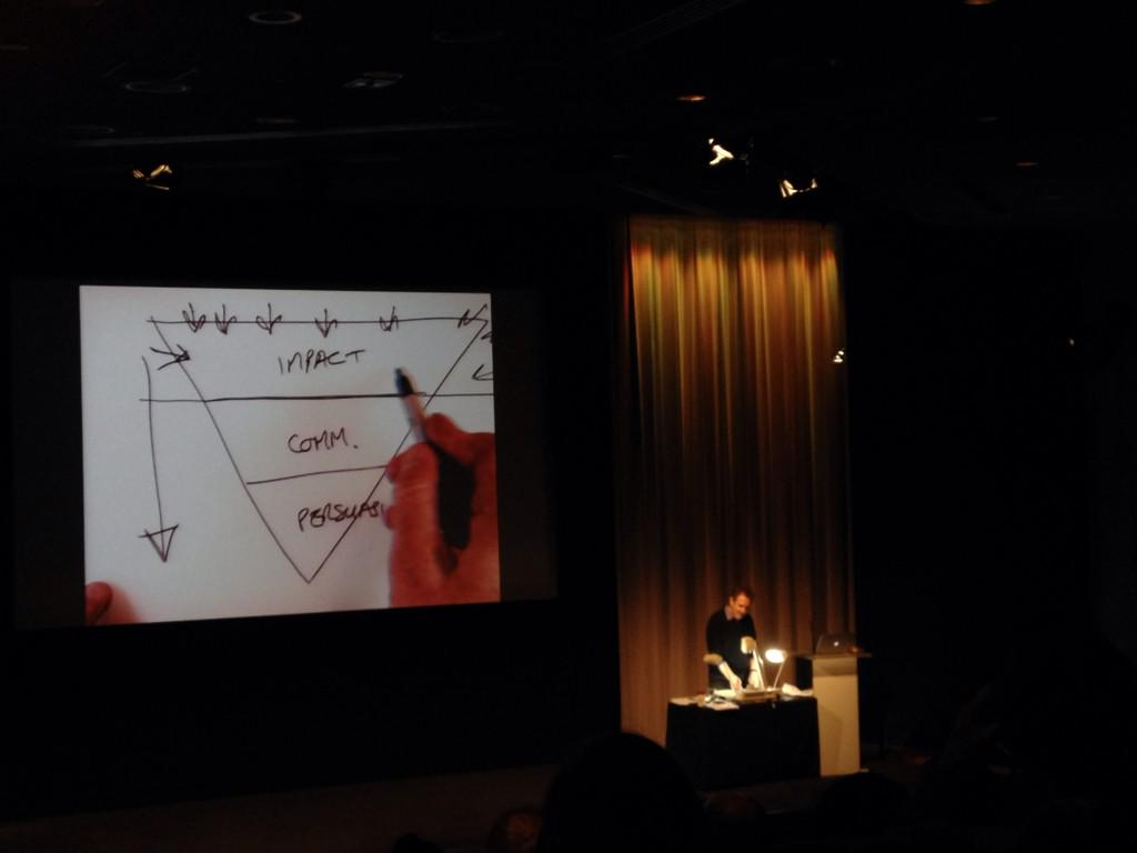 Dave Trott on back to basics creativity @ #APA @BAFTA. Making good use of the Overhead Projector http://t.co/mKspo7AVEG