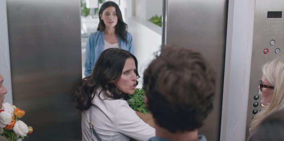 Like anyone would, Julia Louis-Dreyfus holds the elevator to hear more about @OldNavy http://t.co/RvUth5q11g http://t.co/sHPp9POyWg