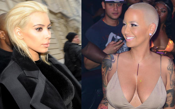 We wonder what original bleach blonde @DaRealAmberRose thinks of Kim Kardashian's new look.... http://t.co/i6o5TM9mG1 http://t.co/FmFqOAO7j9