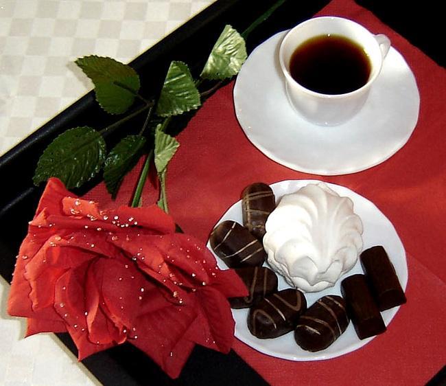 Картинки с добрым утром цветы кофе конфеты