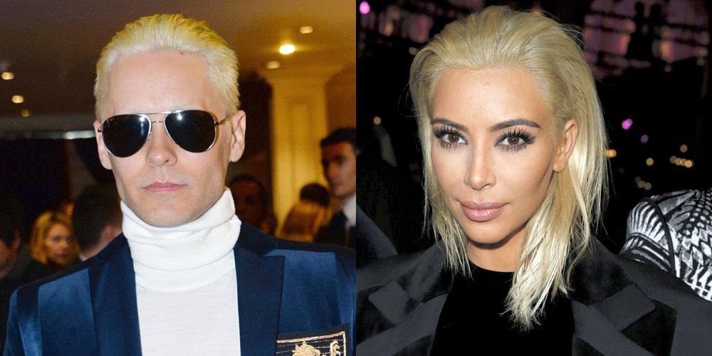 Who wore platinum blonde better: Kim Kardashian or Jared Leto? Vote in the poll here: http://t.co/ilFiyaOhPg http://t.co/7IXOvUifXn